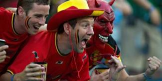 supporters foot belges diables rouges